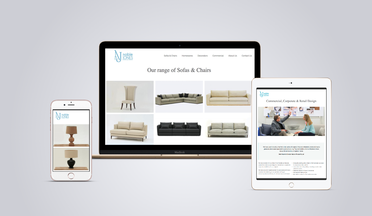 A website for a local furniture designer and manufacturer for Sites to sell furniture